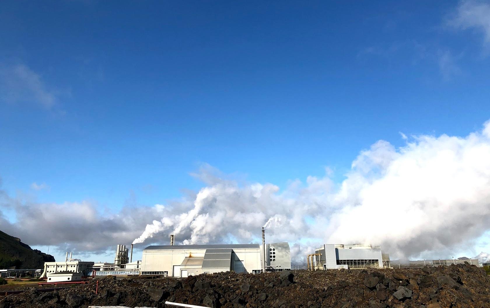 Iceland's Blue Lagoon backdrop:  Svartsengi geothermal plant