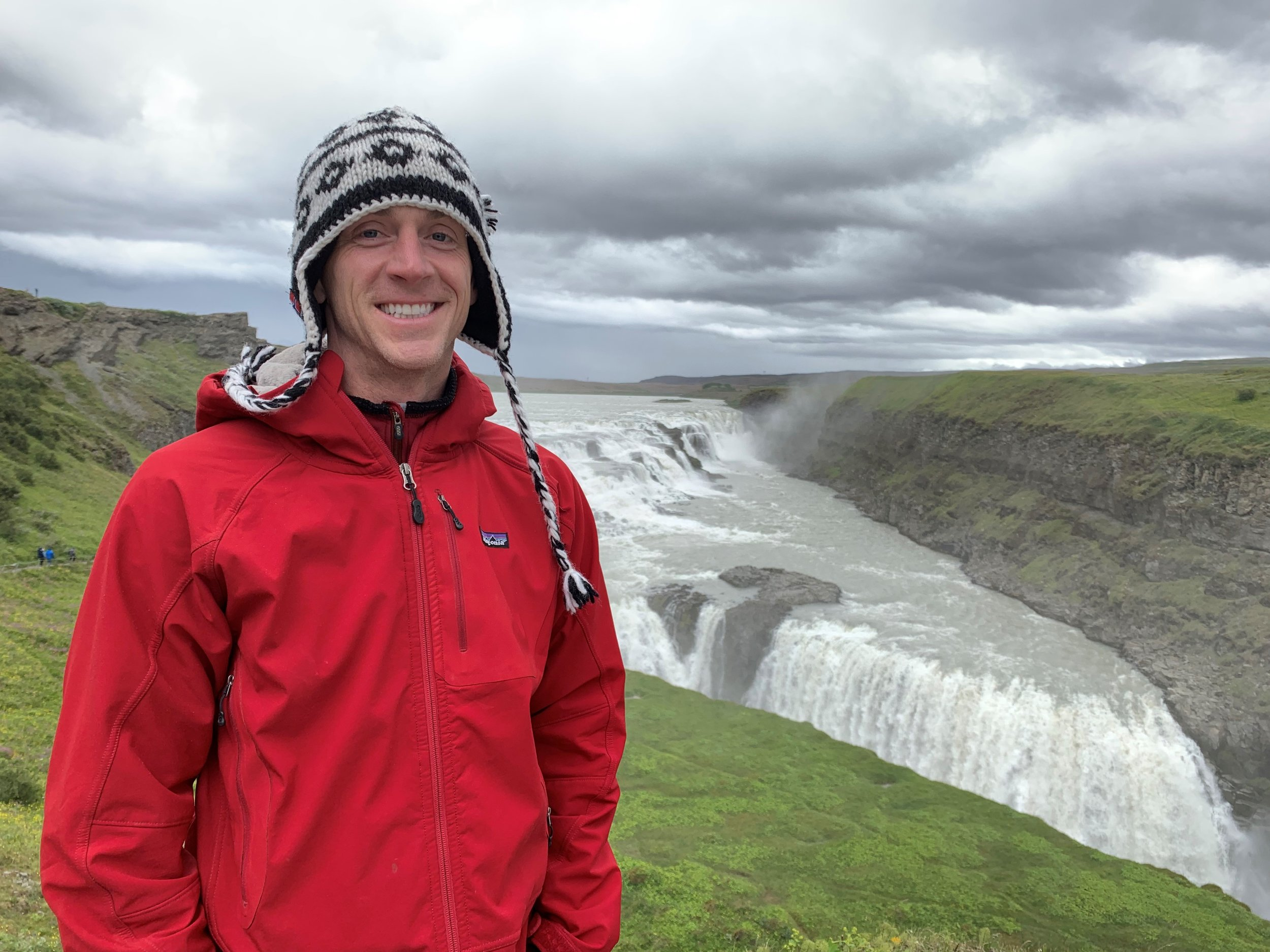 Why not smile more? You're in Iceland.
