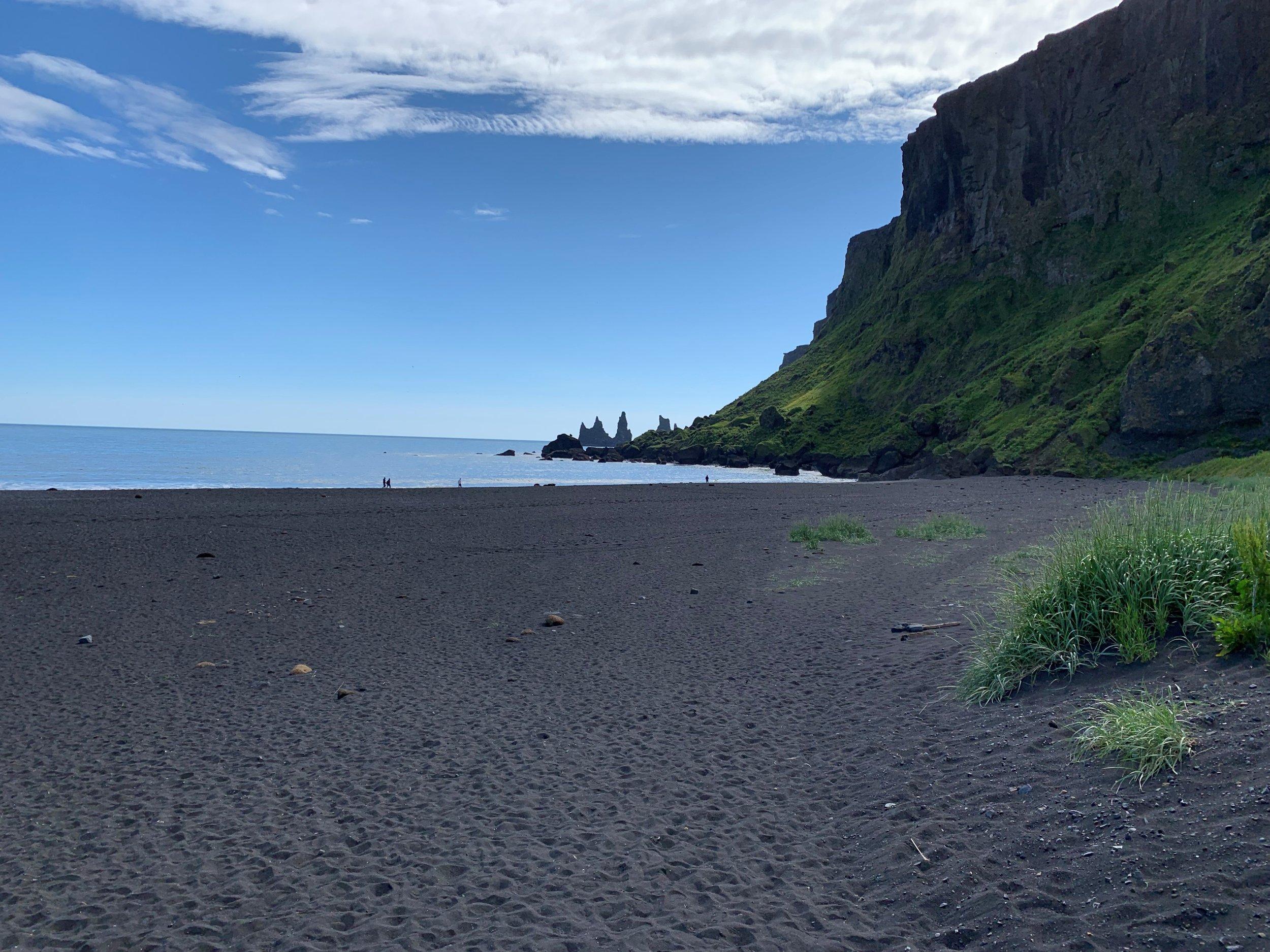 Purchase a sleep mask as black as this beach!