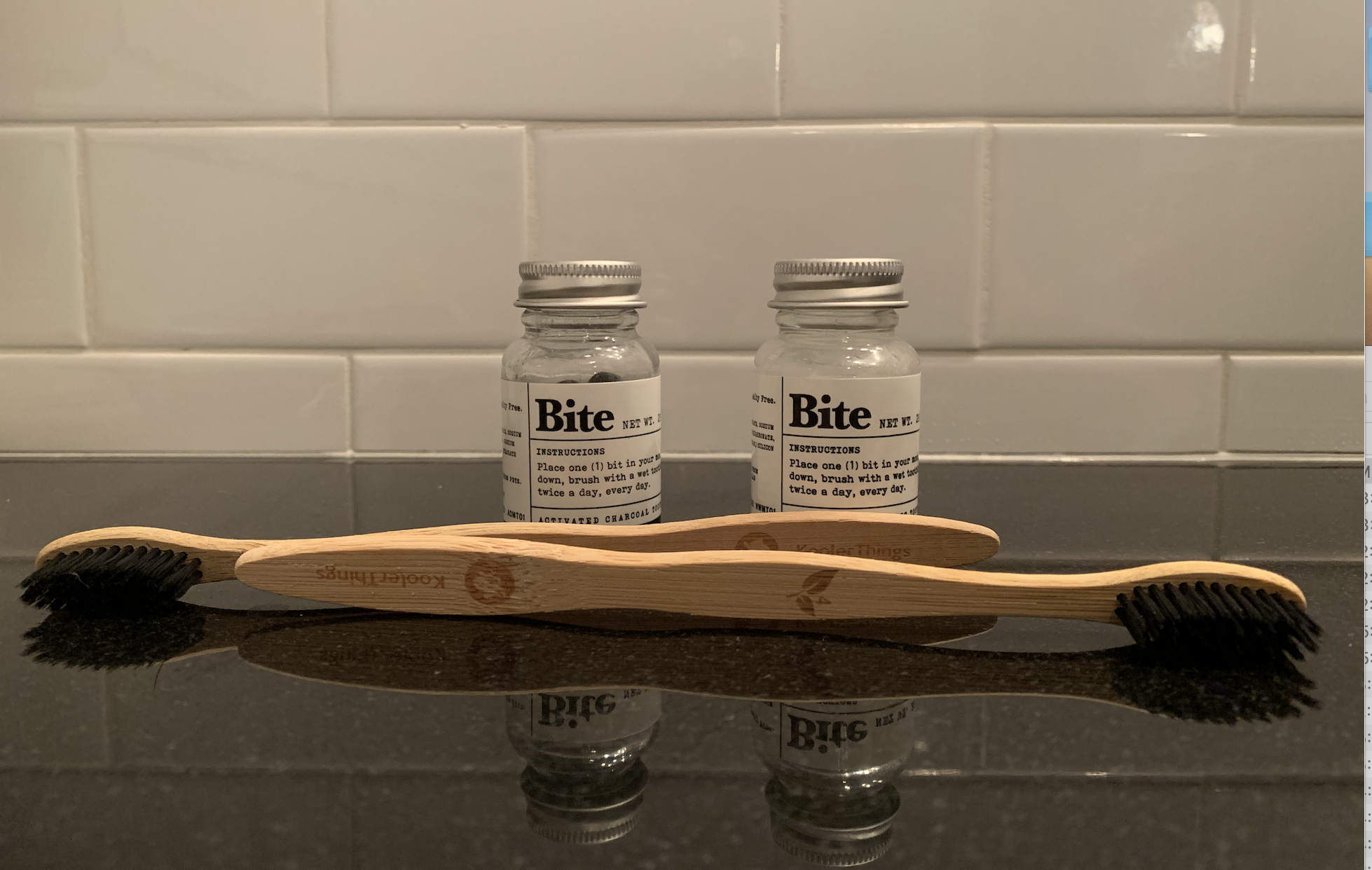 Tried and tested - Bite toothpaste and bamboo toothbrushes