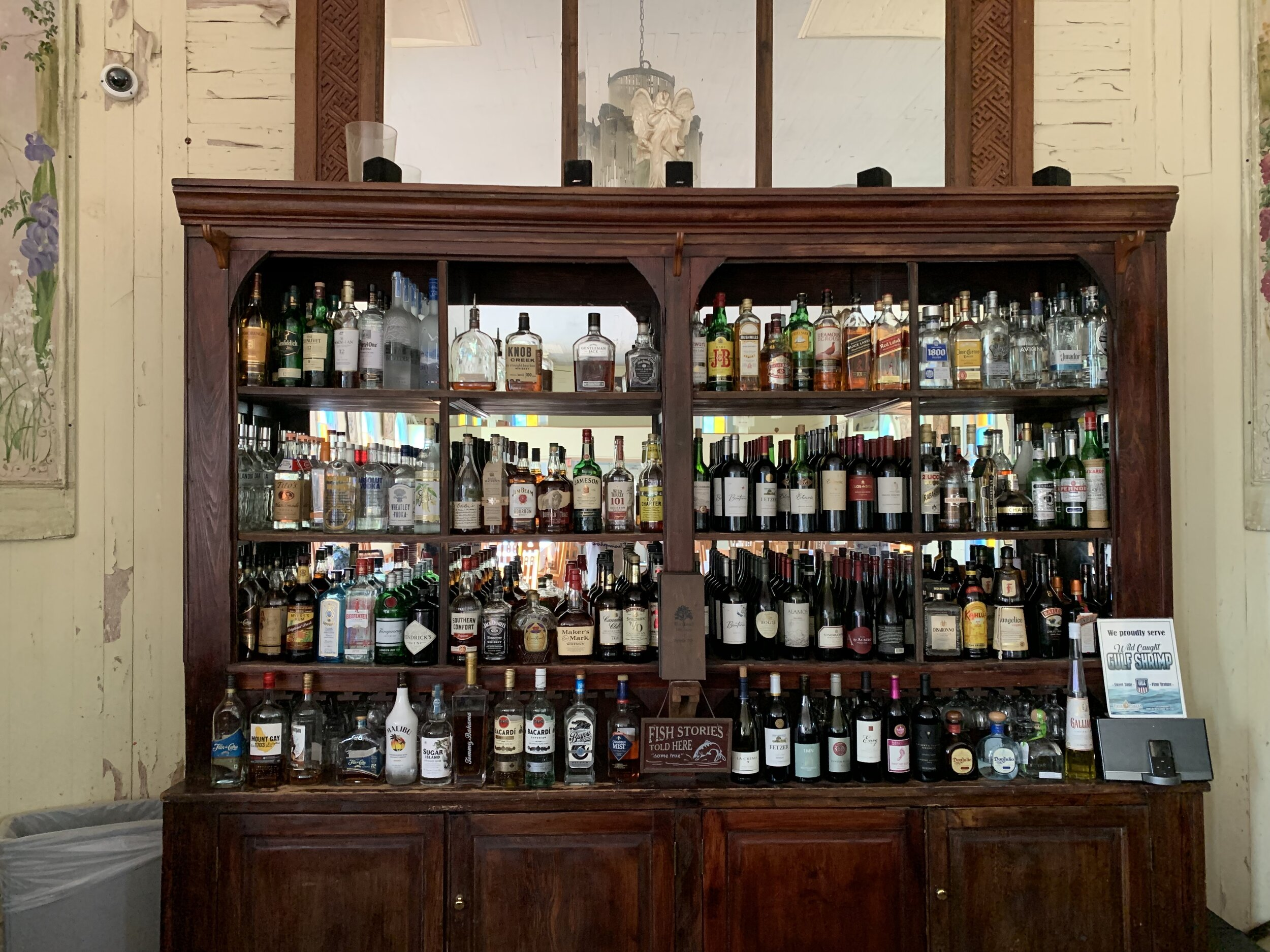 The best birthday present a brother could ask for - a fully stocked bar!