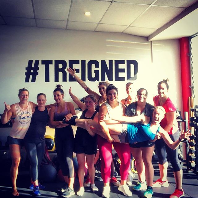 @women.of.treign to all my Treigned strong bitches- thanks for all the lifts, grunts, laughs and love over the past two years. Y'all have made me stronger than you'll ever know. 💪🏻🤸🏼♀️🏋🏼♀️❤️