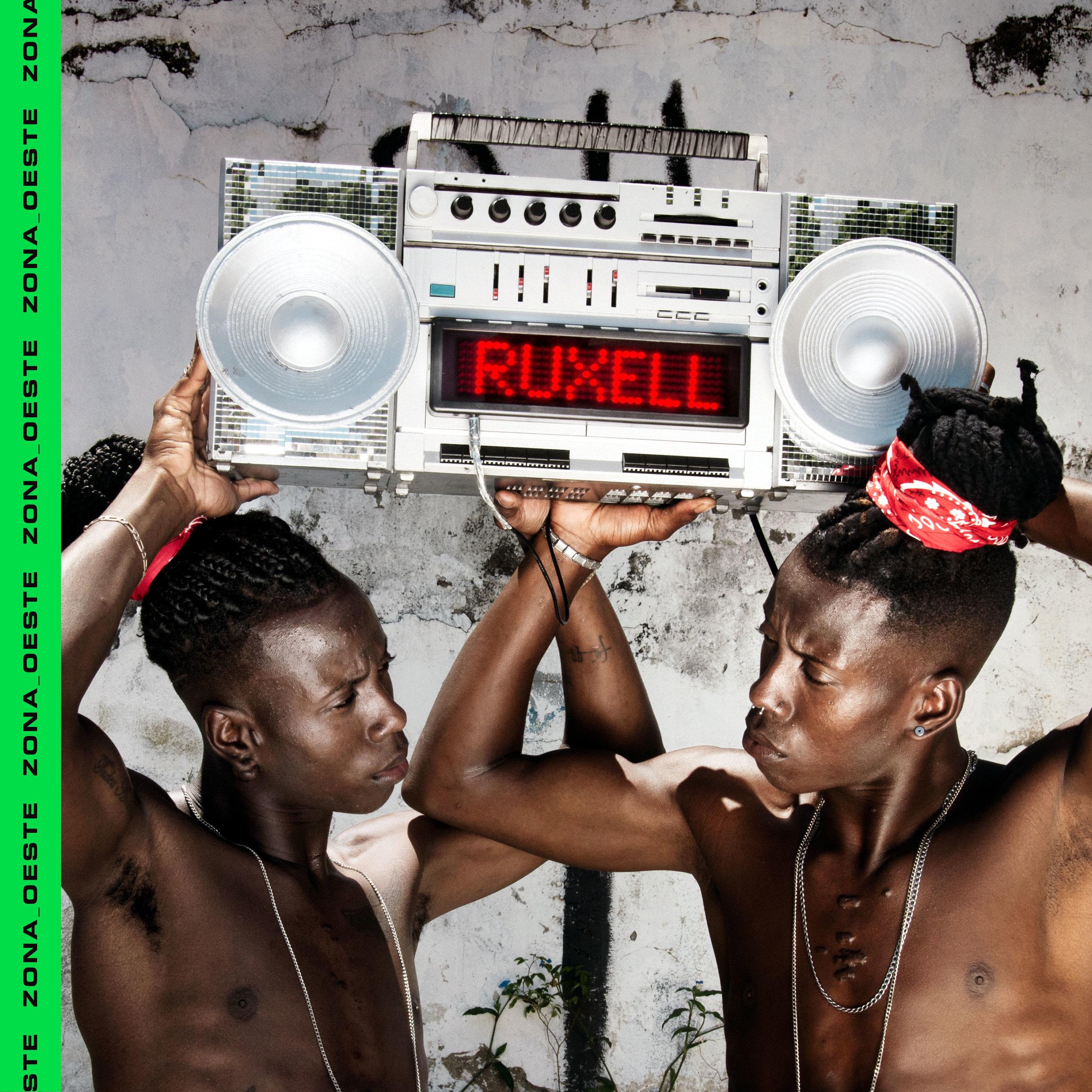 Ruxell - Zona Oeste single cover - photo ��Vincent Rosenblatt - Design by Rel�mpago (RLMPG) agency - Twin models : Tarso & Tadeu Oliveira Amancio - Rio de Janeiro 2017