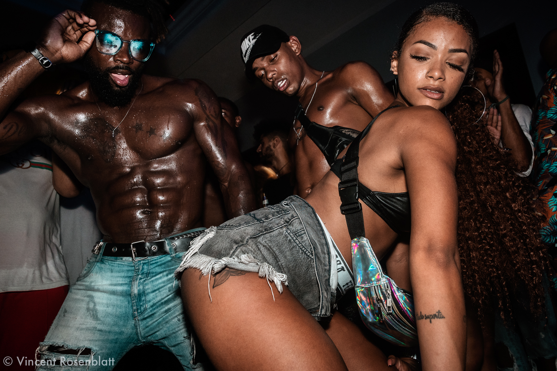 Massengo & Isabelly - urban dancers & models at the  Black Lux party - Santa Teresa, Rio de Janeiro 2018.