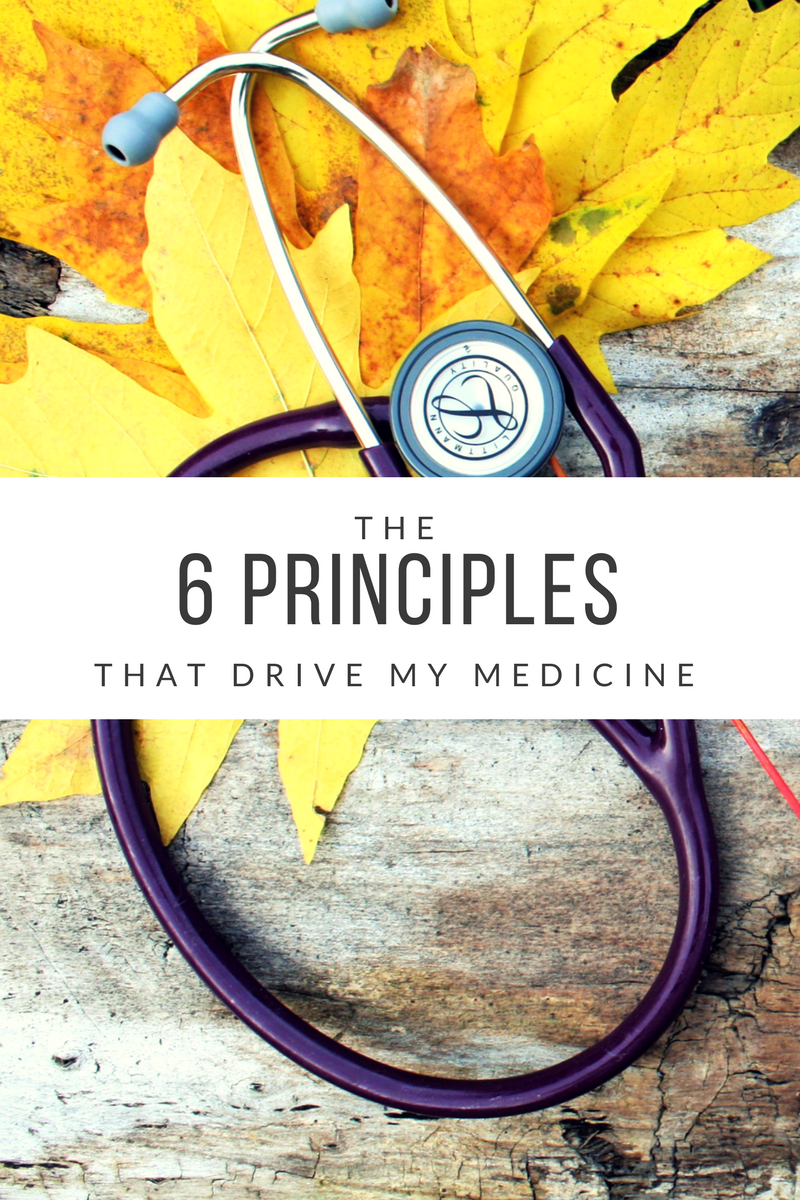 The 6 Principles that drive my medicine