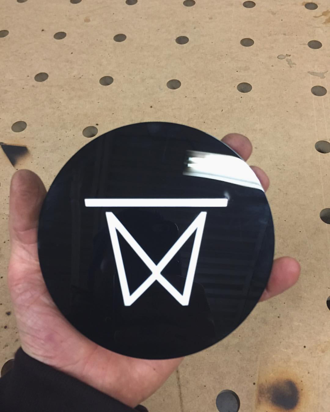 My logo in acrylic. I'm going to attach these to everything, acrylic logos are the new stickers.