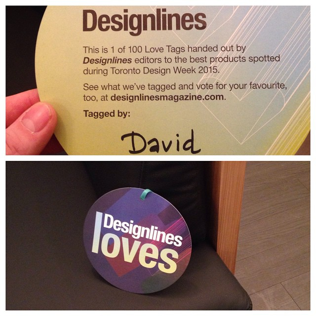 Thank you for the love! @thetonic @designlinesmagazine #DLLoves #todo15 #upper751 #designweek @todesignoffsite