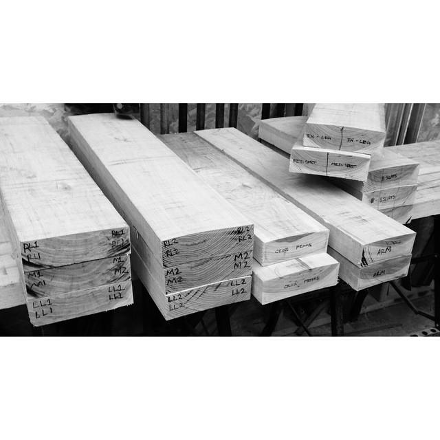 Breaking down rough stock, assigning/marking parts. #woodworking #furniture #TODO2015 #TODO15 #torontodesign #upper751