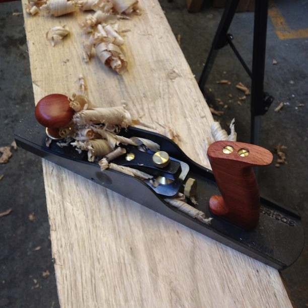 Working unplugged today. #woodworking #handtools #craft #toronto #butternut