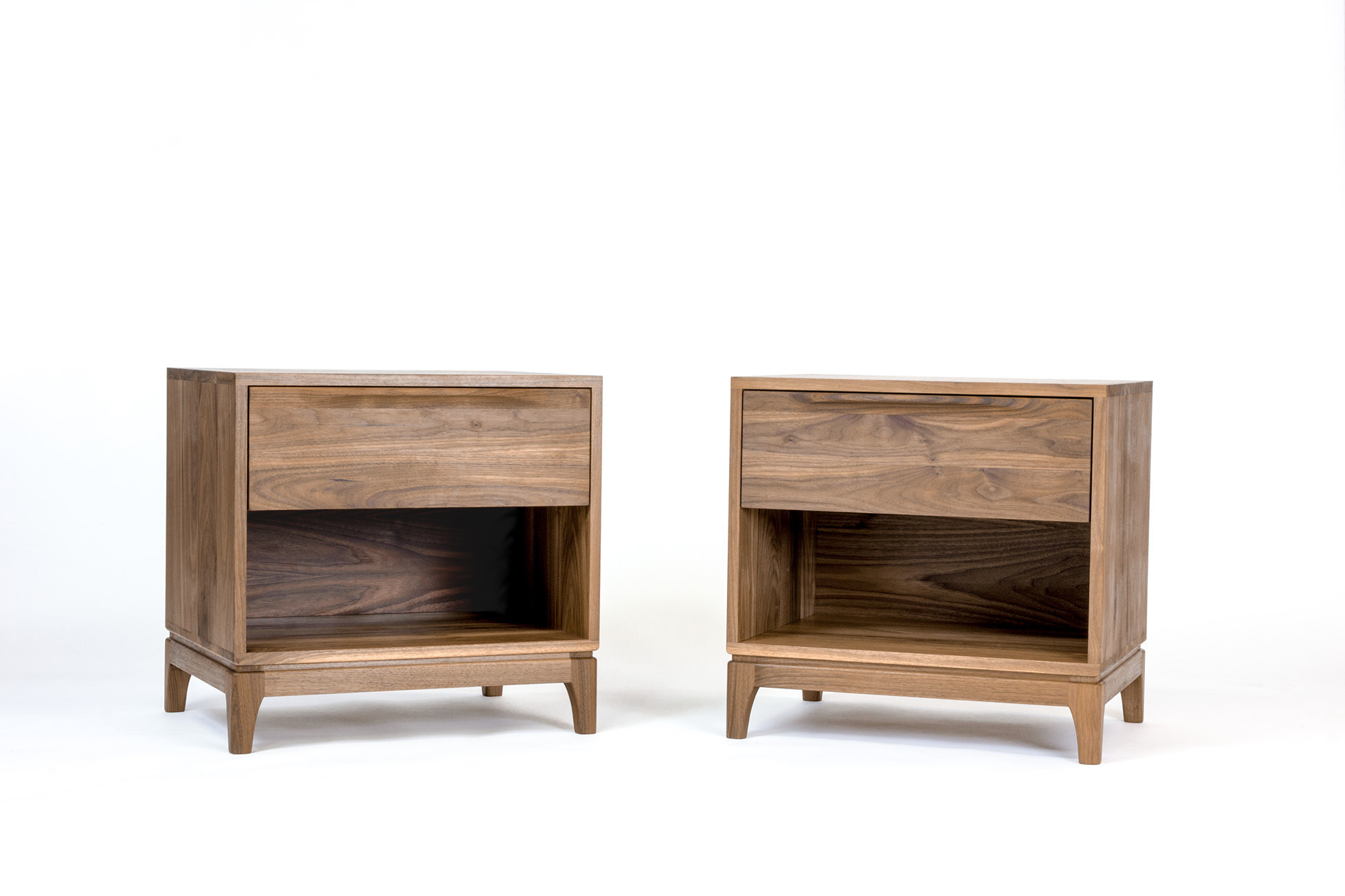 Modern Walnut Nightstands