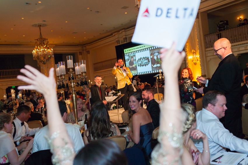 Matt serves as auctioneer, helping raise more than $940,000 for Mary's Place, the leading emergency shelter for homeless families in the Seattle-area. The Theme: Hollywood Glitz and Glam. Perfect opportunity to pull out the gold tux coat.
