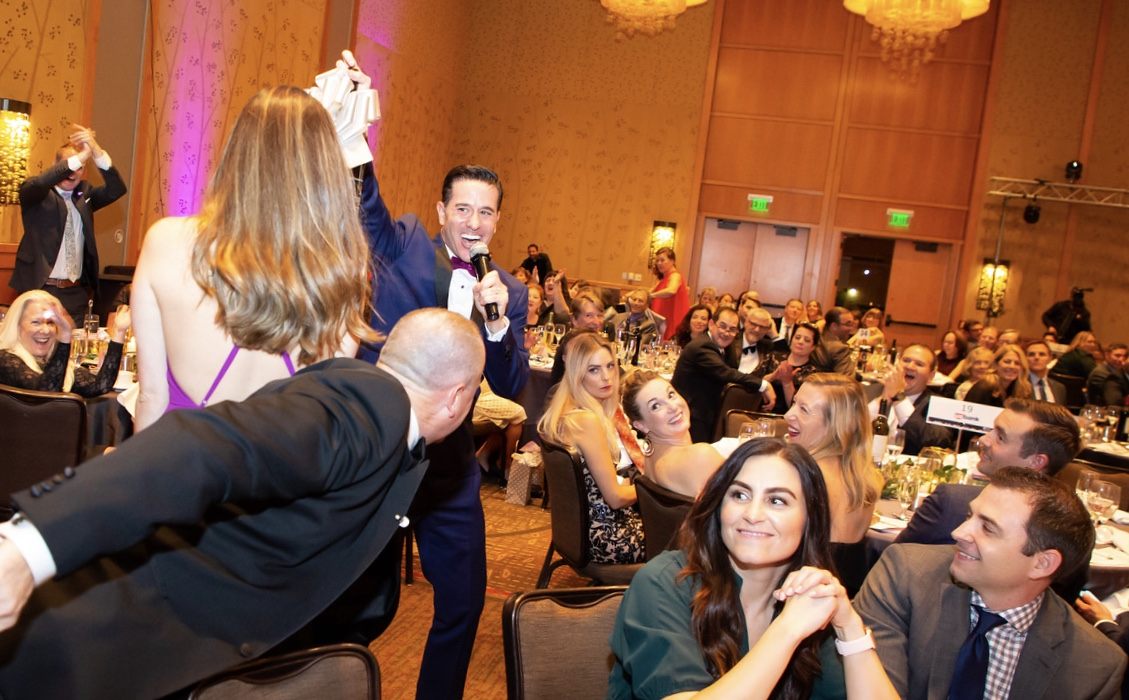 Matt creates memorable moments as auctioneer at the Northwest Kidney Center Discovery Gala in 2018 raising $760,000 for kidney research.