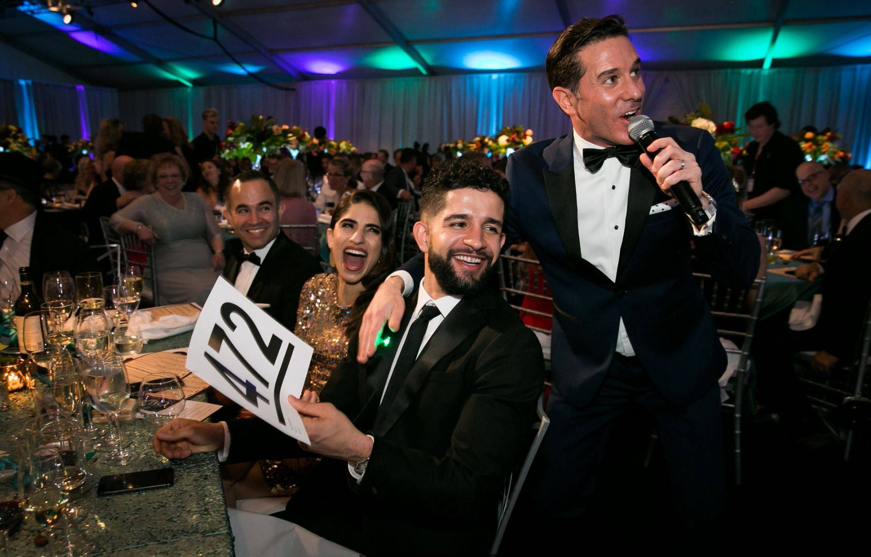 Matt hosts the Evergreen Gala for EvergreenHealth Medical Center, helping raise $1.4 million to improve health care for communities on the Eastside.