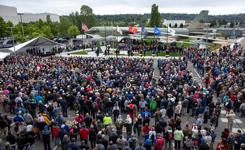 Matt emcees dedication of the new Vietnam Veterans Memorial Park at The Museum of Flight in Tukwila, WA. in May of 2019 with roughly 4,000 people in attendance.