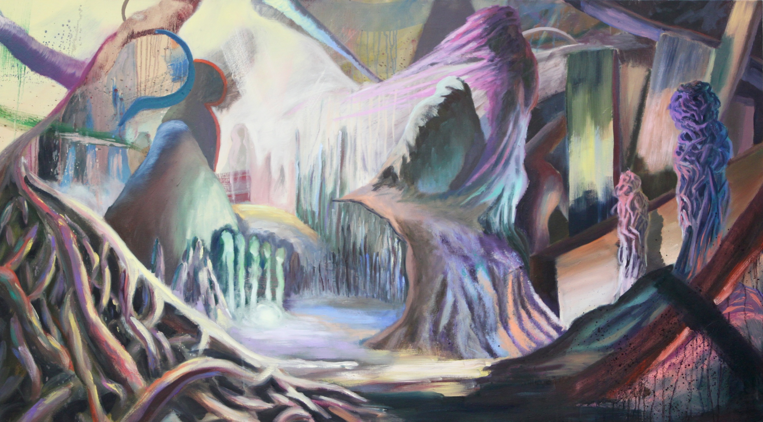 Entangled: 7   Oil Paint on Canvas  40x72 inches  2015