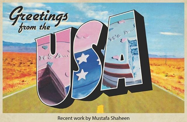This is an incredible exhibition of paintings by my talented studio mate @mustafashaheen. The reception is tonight at Sac State; there will be food! #art #sacramento #sacramentoartist #painting #greetingsfromtheusa