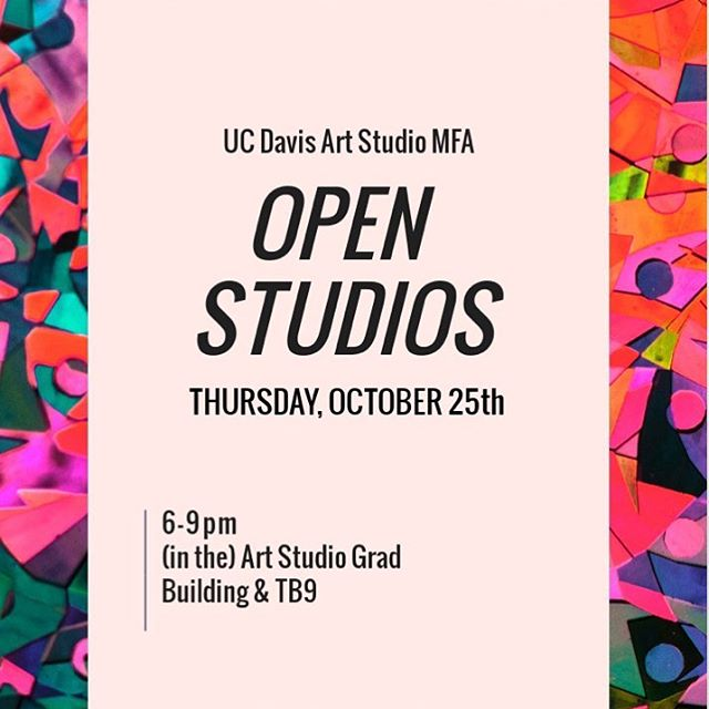 Free and open to the public! Come check out what my fellow art grads and I are making in our studios.