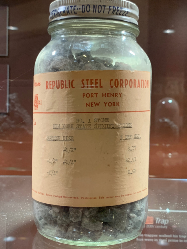 Iron ore, as would have been mined by Pearl's husband, Michael Kelly, for Witherbee, Sherman, & Co.