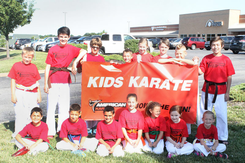 American Karate Summer Camp students 2015