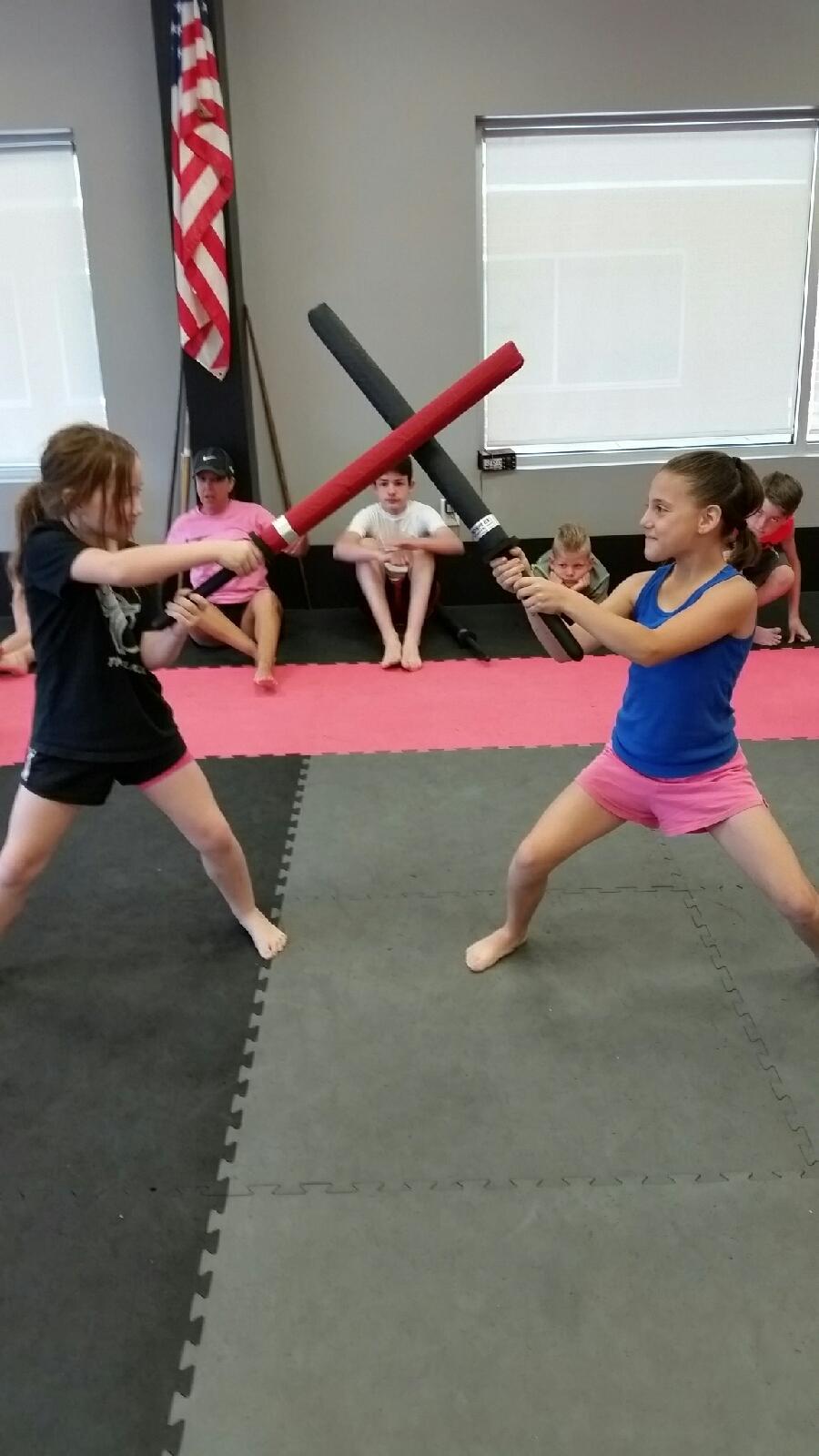 American Karate Summer Camp 2015 - sword sparring