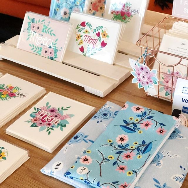 Pencil cases, greeting cards, gift tags... we have it all! #stationery 🌸⠀ ------------⠀ .⠀ .⠀ .⠀ #paigeandwillow #greetingcards #artprint #gifttags #madeincanada #design #illustration #handpainted  #envelope #madewithlove #mtl #love #pretty #fun #buylocal #montreal #canada #creative #giftideas #flowers #floral #nature