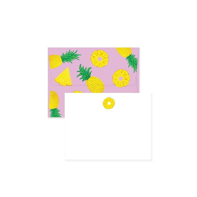 Kicking off the summer season with our tropical envelopes featuring fun #pineapples 🍍🍍🍍 ------------ . . . #paigeandwillow #summer #stationery #madeincanada #madewithlove #love #pretty #fun #buylocal #canada #montreal #mtl #babyitshotoutside #envelopes