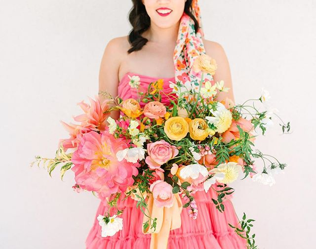 My all time favorite bouquet was sent to me as inspiration for an event I'm flowering at @bookhastudios studio next week so I decided to share it again because why not?! #wildmusefloral  Photo: @marycostaphoto  Bride: @aww.sam