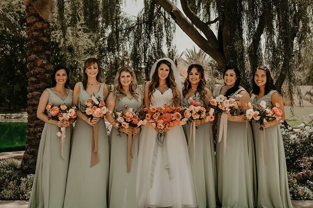 Sage + bright pinks/peaches is the color palette I never knew I loved until this day 💕 #wildmusefloral  Photo: @alyssamarieephoto