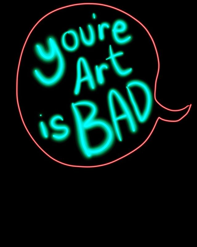 #neon #illustration #ipadpencil #art #youcantspell #youreyour