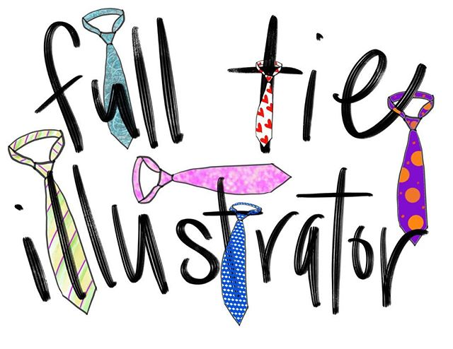 #illustration #ties