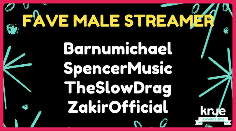 Michael was nominated for a Krue Award for Favorite Male Streamer.