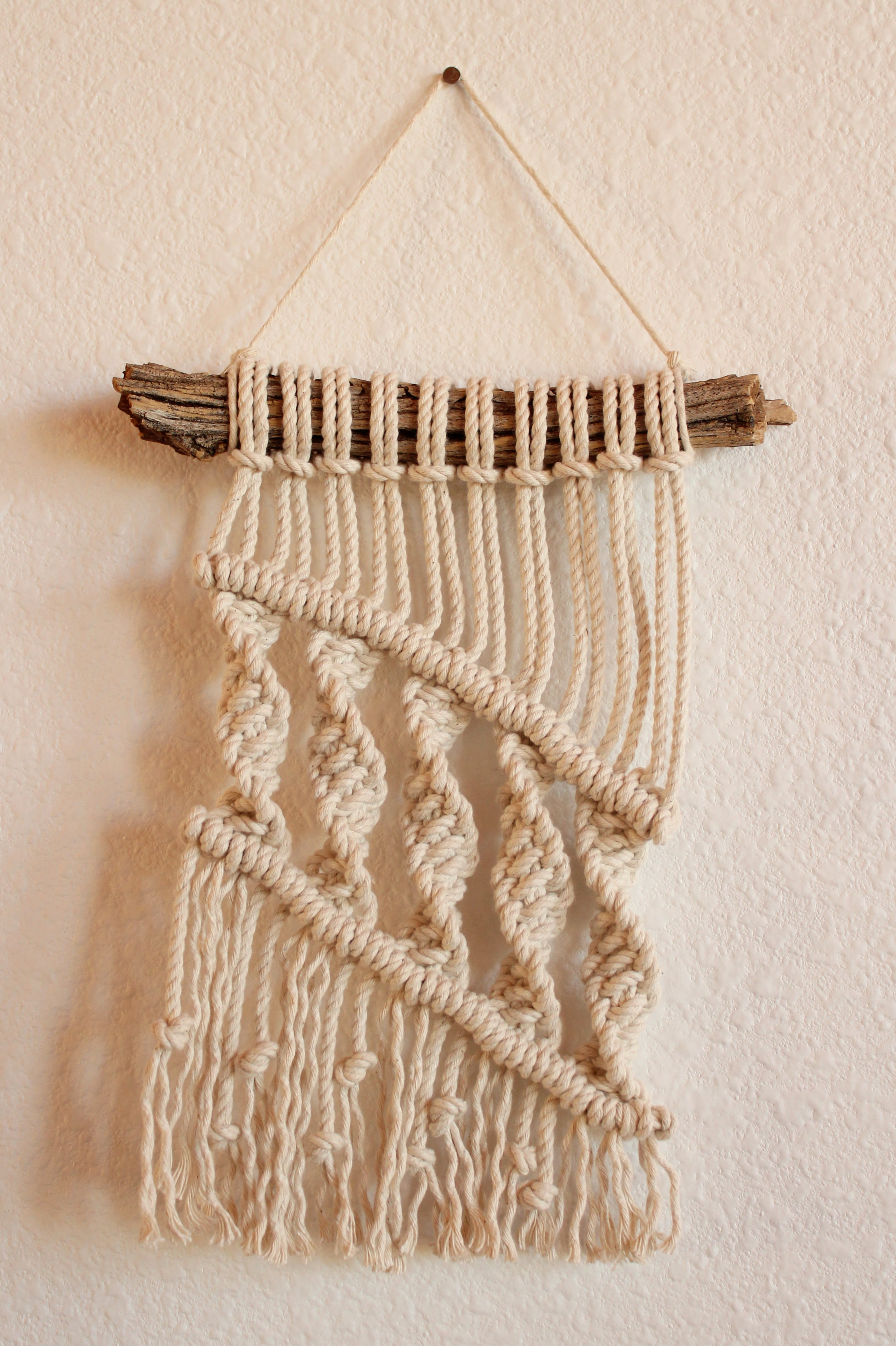 STRENGTHEN THE FEEBLE MACRAME WALL HANGING