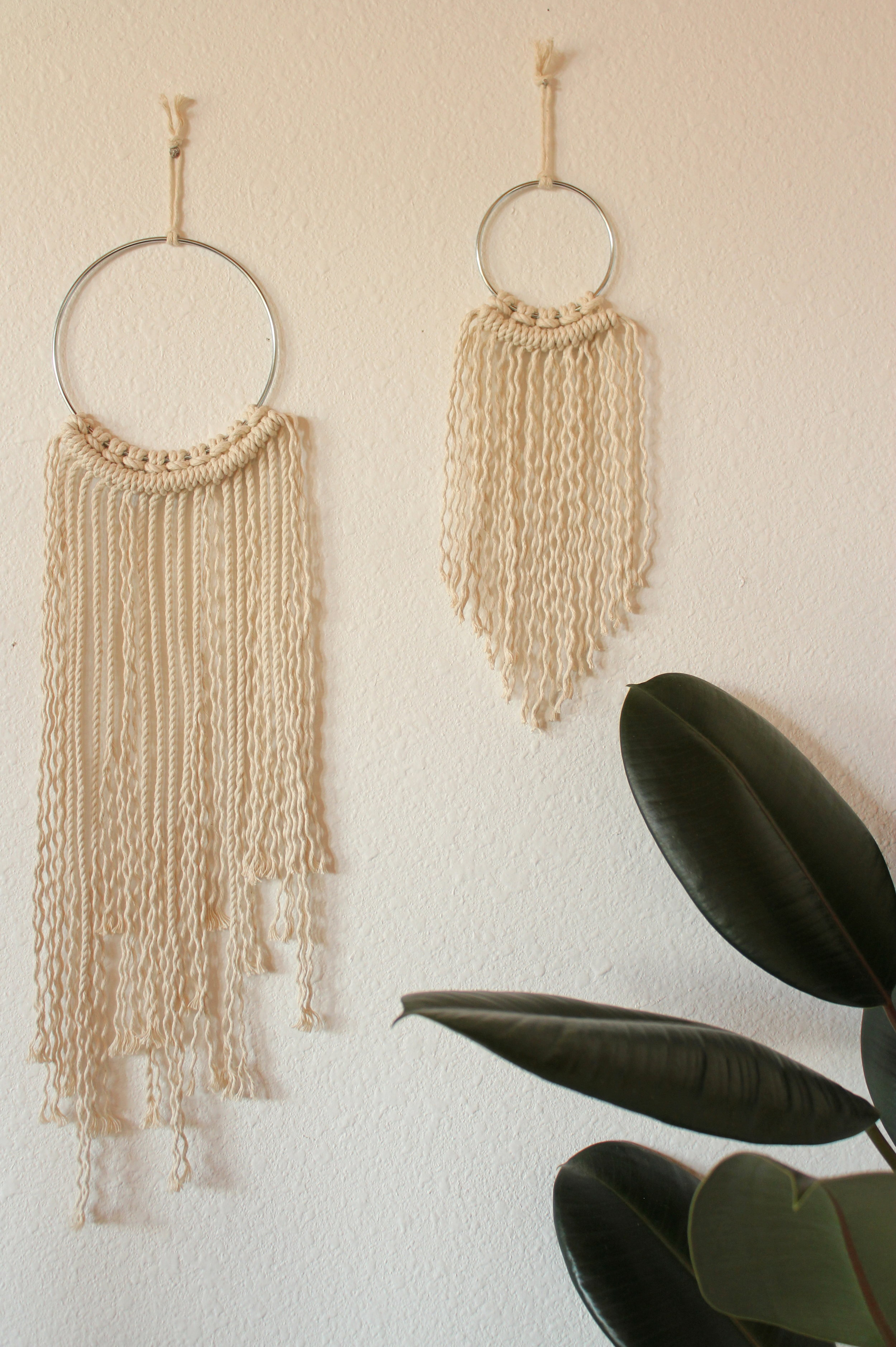 OPENED AND UNSTOPPED MACRAME WALL HANGING DUO