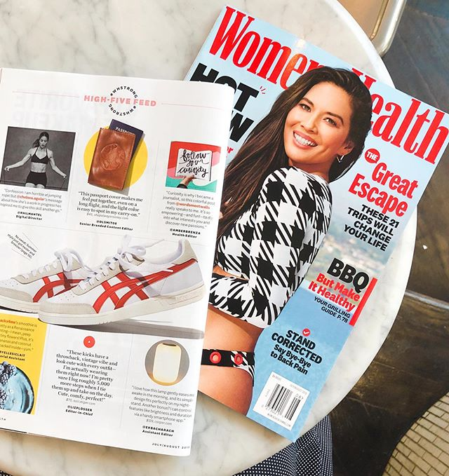 Traveling for the long weekend? Grab a copy of the latest @womenshealthmag and peep page 12 😊 . A beyond big thank you to Women's Health & @amberbrenza for including me/Words Meet Walls! It's one thing to see prints of my posts but it's another to actually see it in print! 😱 My mind is still trying to comprehend. . I hope this photo in Women's Health accompanied by Amber's wise words helps inspire those who see it to follow their curiosities, to take a chance, and to trust in their interests.