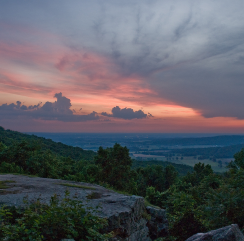 St. Mary's Sewanee view at sunset
