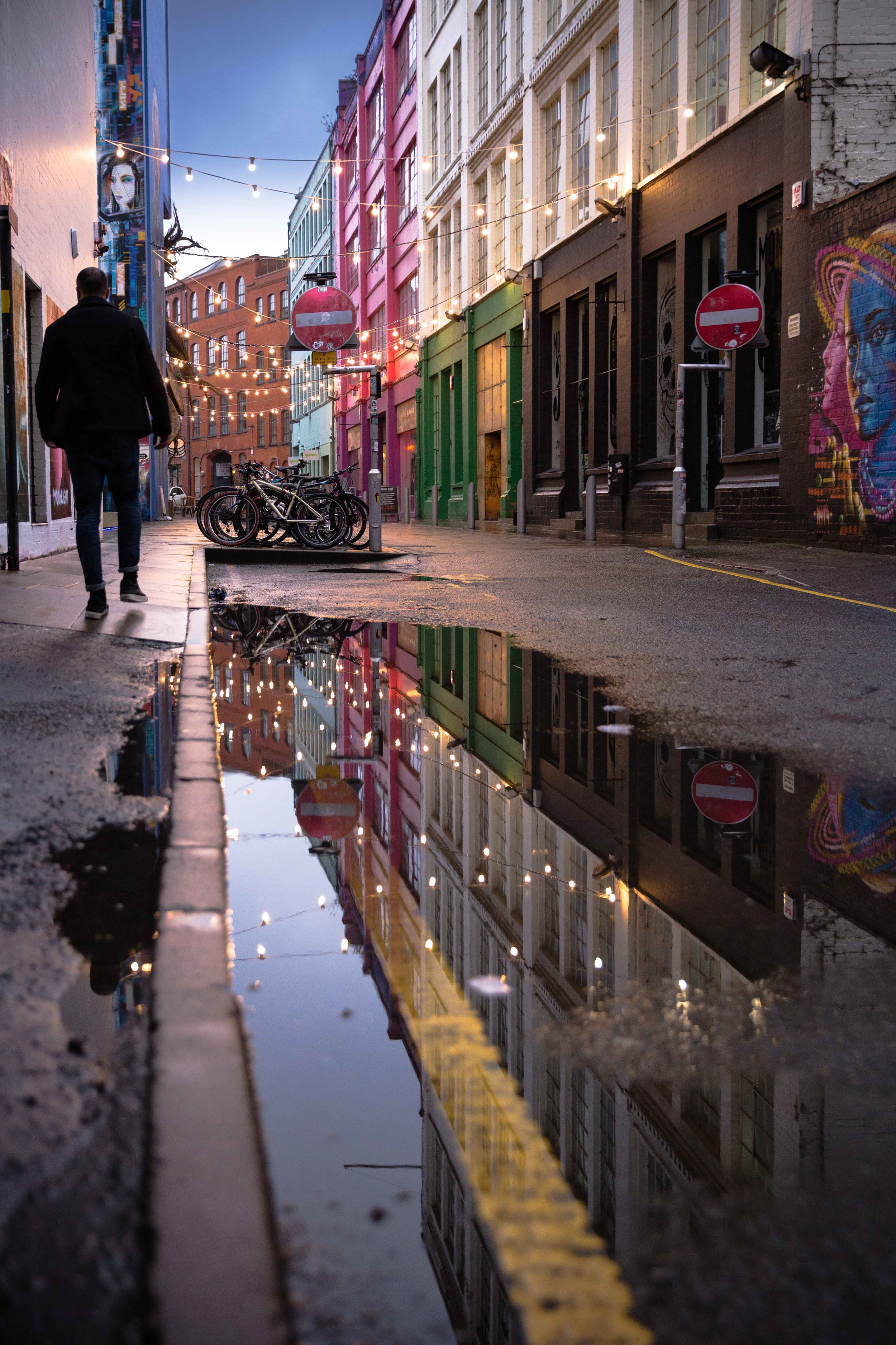 March: Custard Factory in the rain. One of my most liked images of 2017 and also the first image I ever sold.