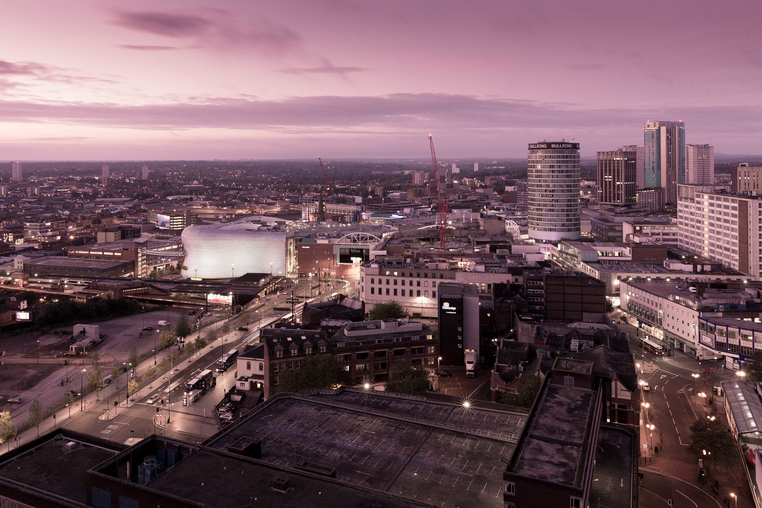 October: Brumrise from the roof of the 27-storey McLaren building.