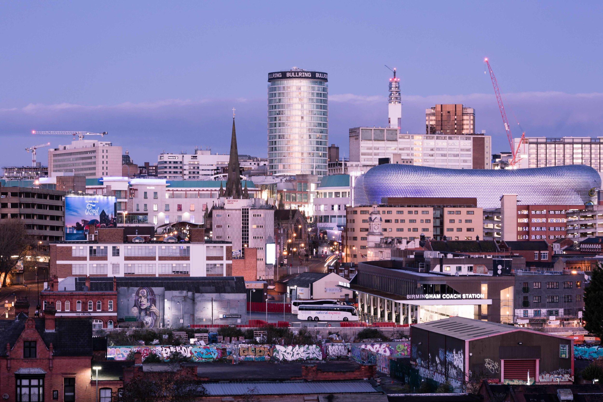 November: The Rotunda and the Bullring as seen from Deritend.