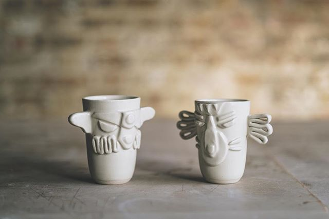 Kooky vessels from #terezakravsova ❤️🙏⚱️ Photo @arturrummel #independentceramics #kooky #instaceramics