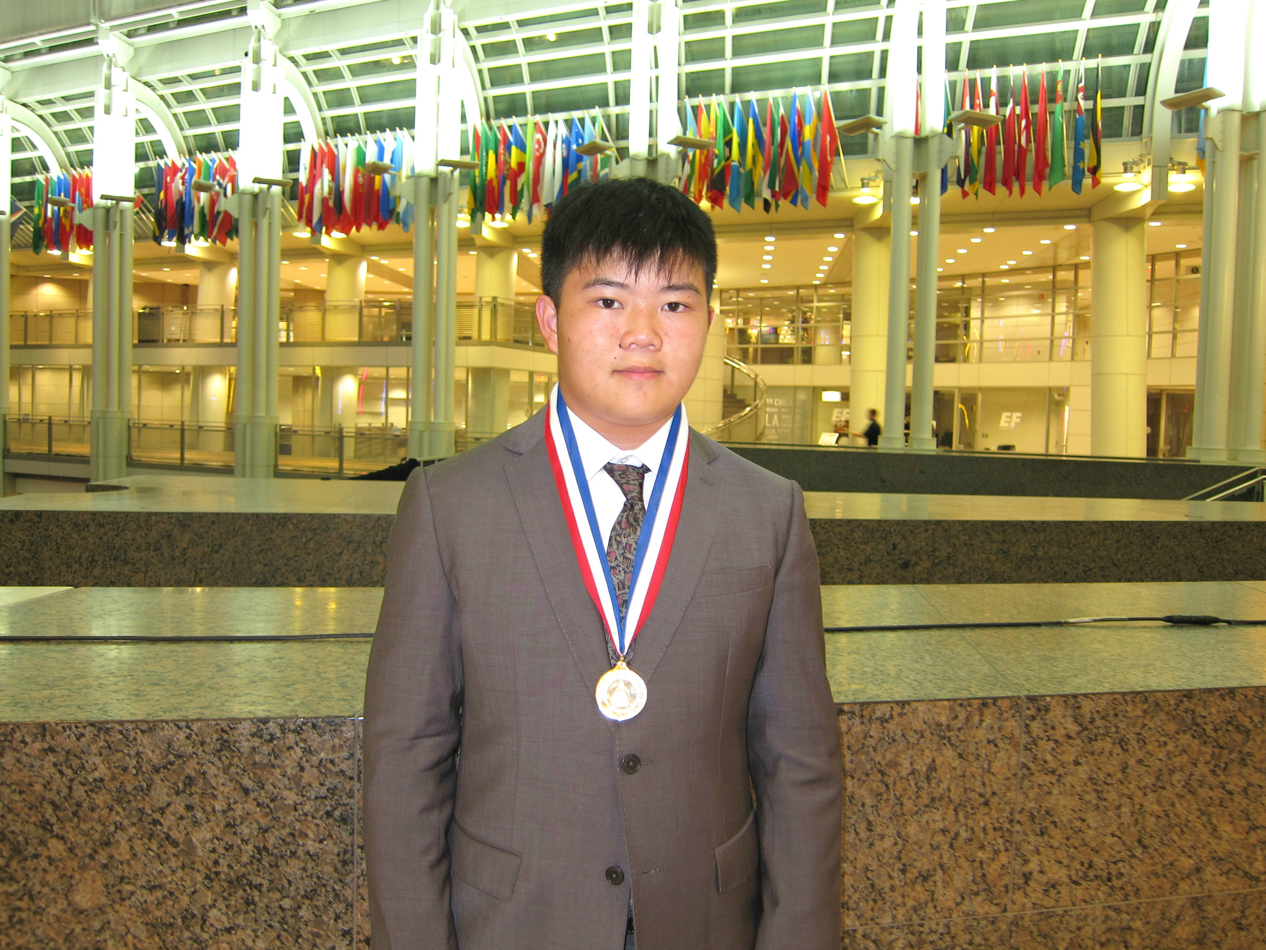 Terence Lee, 2016 Congressional Award Gold Medalist attending recognition dinner at Ronald Reagan Building and International Trade Center
