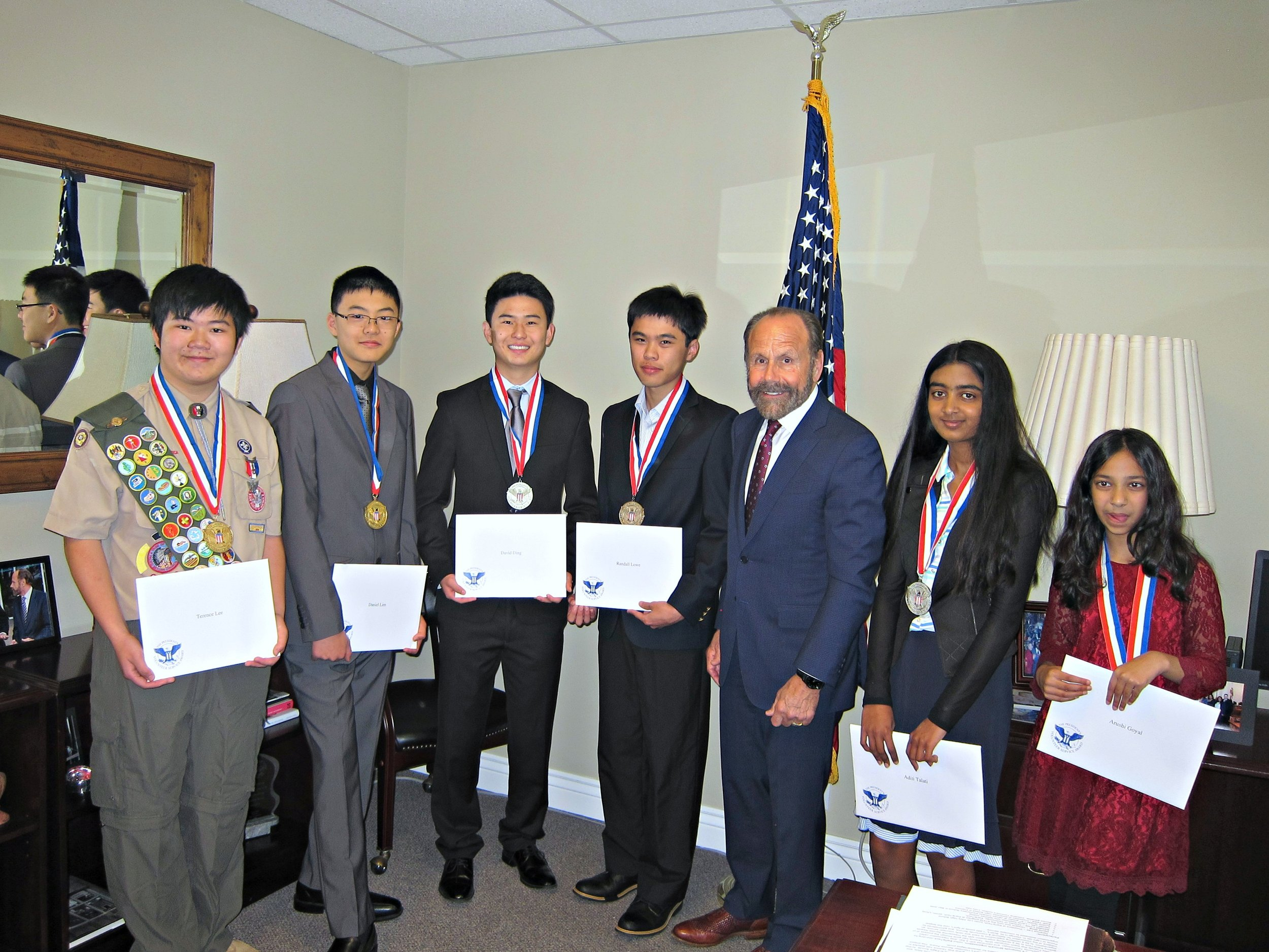 Senator Jerry Hill Honors 2016 President's Volunteer Service Award Winners at EqOpTech