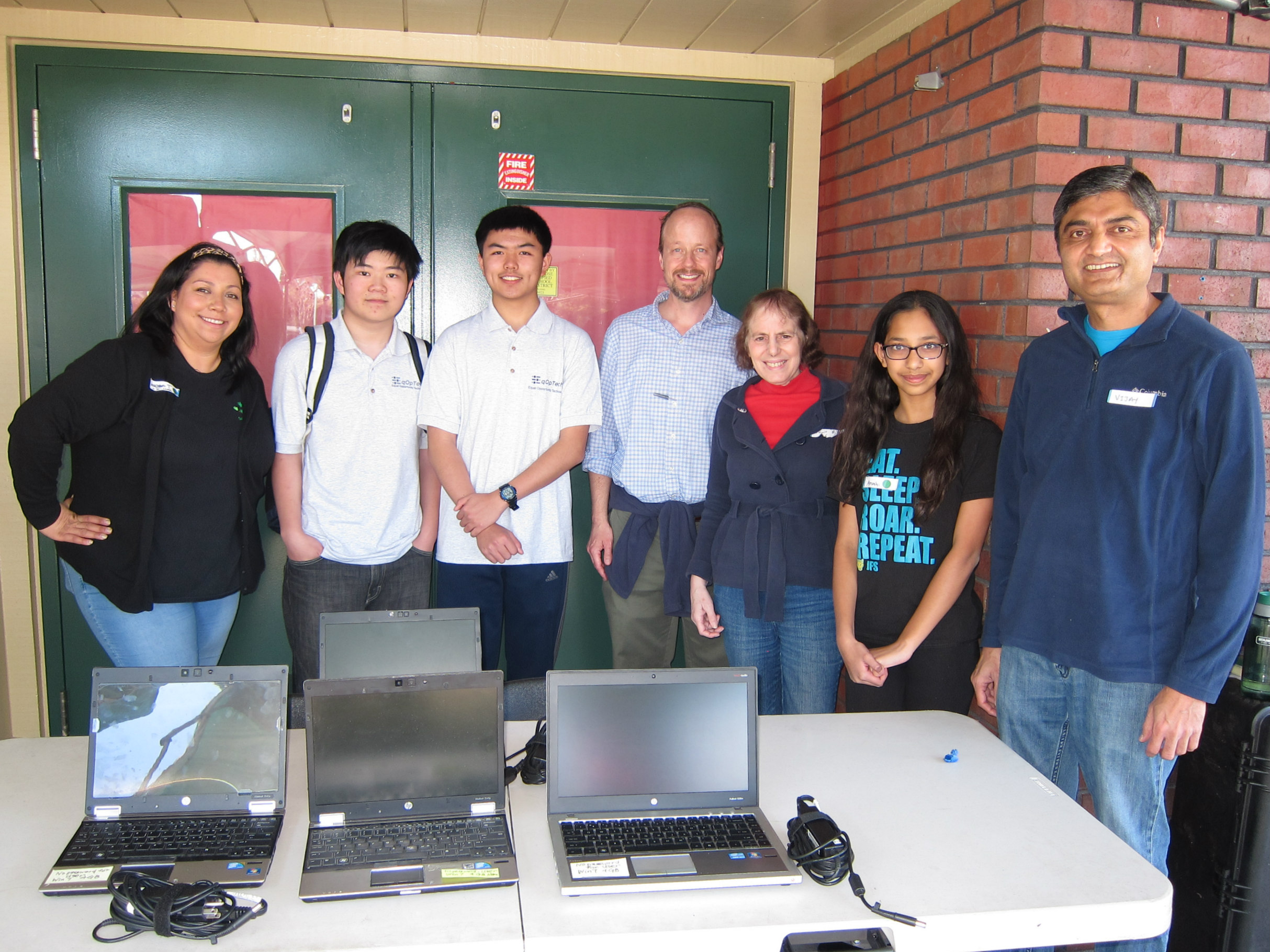 Vanessa Torres (left to right), Terence Lee, Kevin Gao, James McCaskill, Janis Baron, Arushi Goyal, Vijay Talati