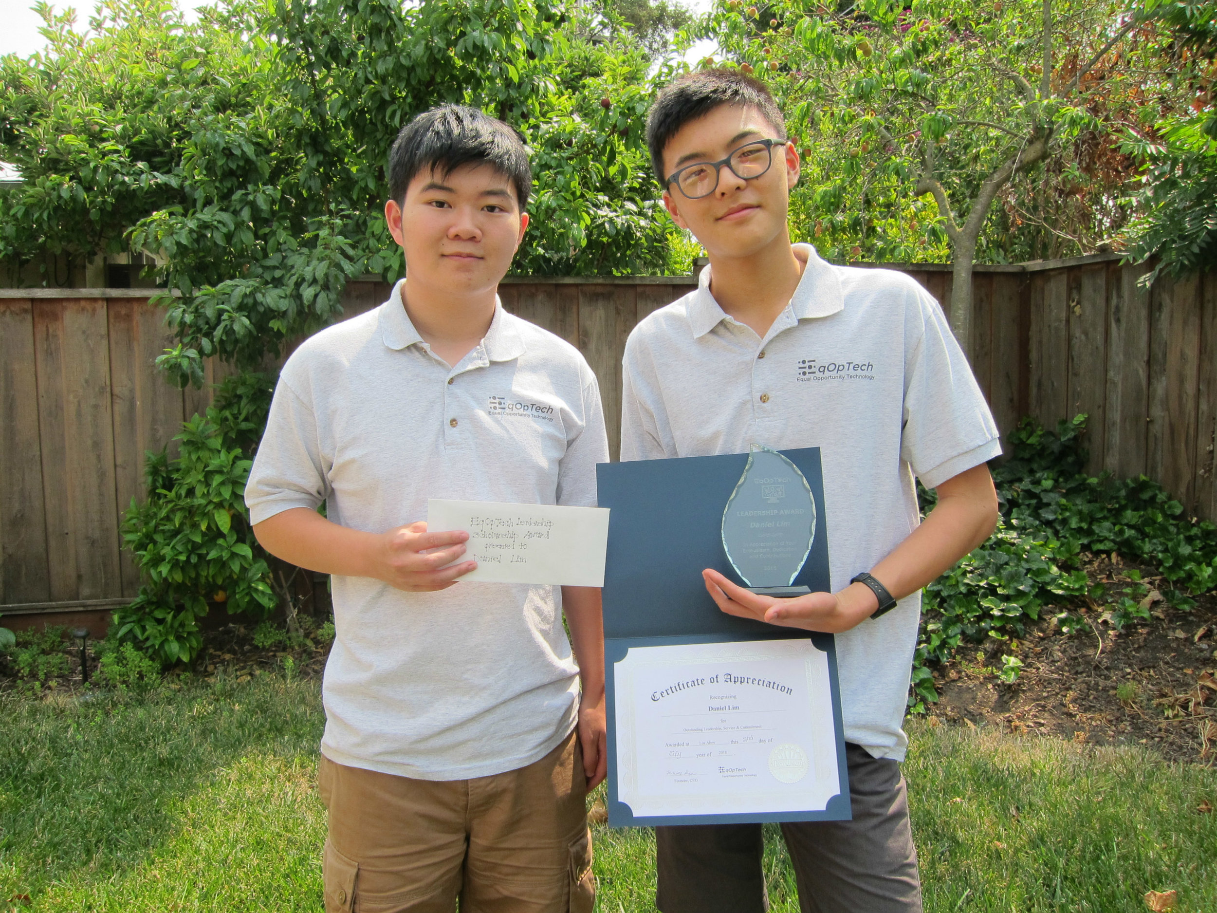 Daniel Lim (right), Terence Lee