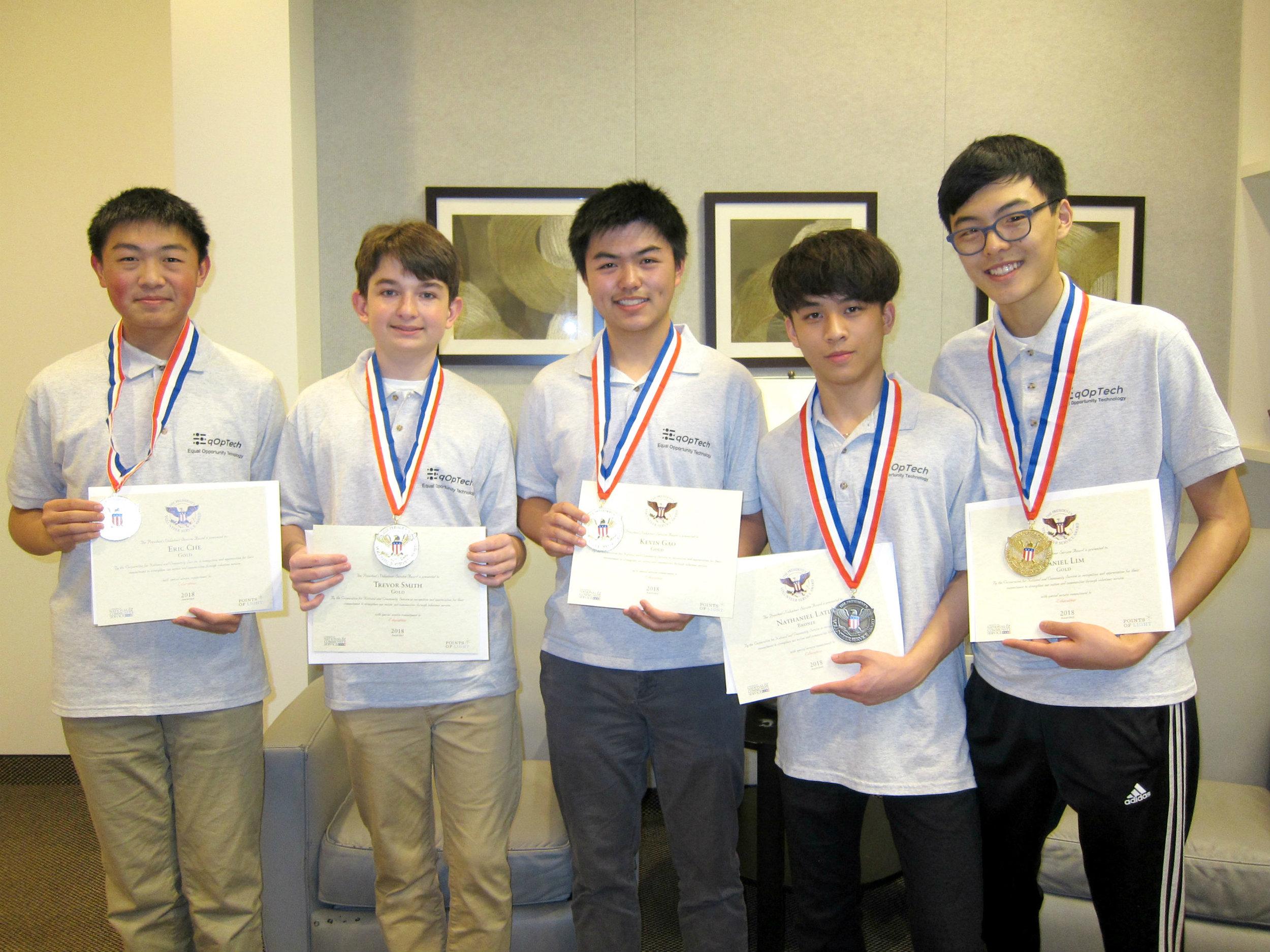2018 PVSA Medalists - EqOpTech Inc.
