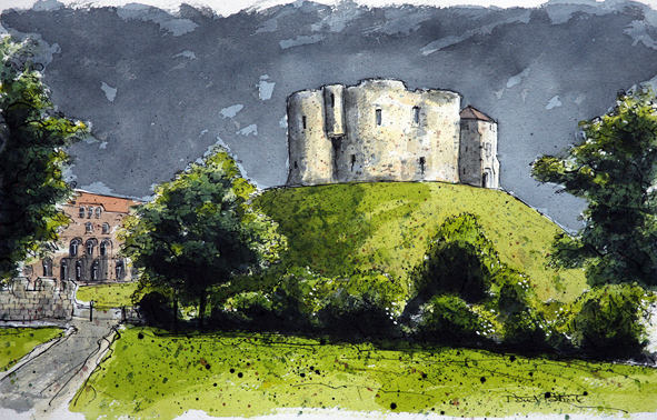 Patrick - Clifford's Tower from Tower Gardens LR.jpg