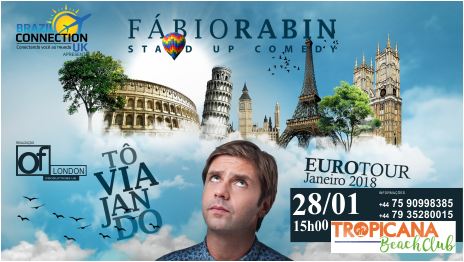 Compre seu ticket no link abaixo :   https://www.designmynight.com/london/whats-on/comedy/fbio-rabin-stand-up-comedy-show?from=autocomplete