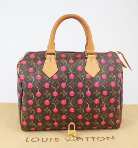 LOUIS VUITTON CHERRY CERISE, SPEEDY 25 BY TAKASHI MURAKAMI
