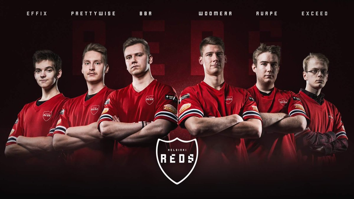 Finland's Helsinki Reds eSports Team (Photo: IFK)