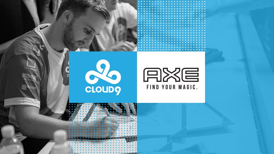 Axe Sponsors Cloud9 and Team Solo Mid (Photo: Twitch)
