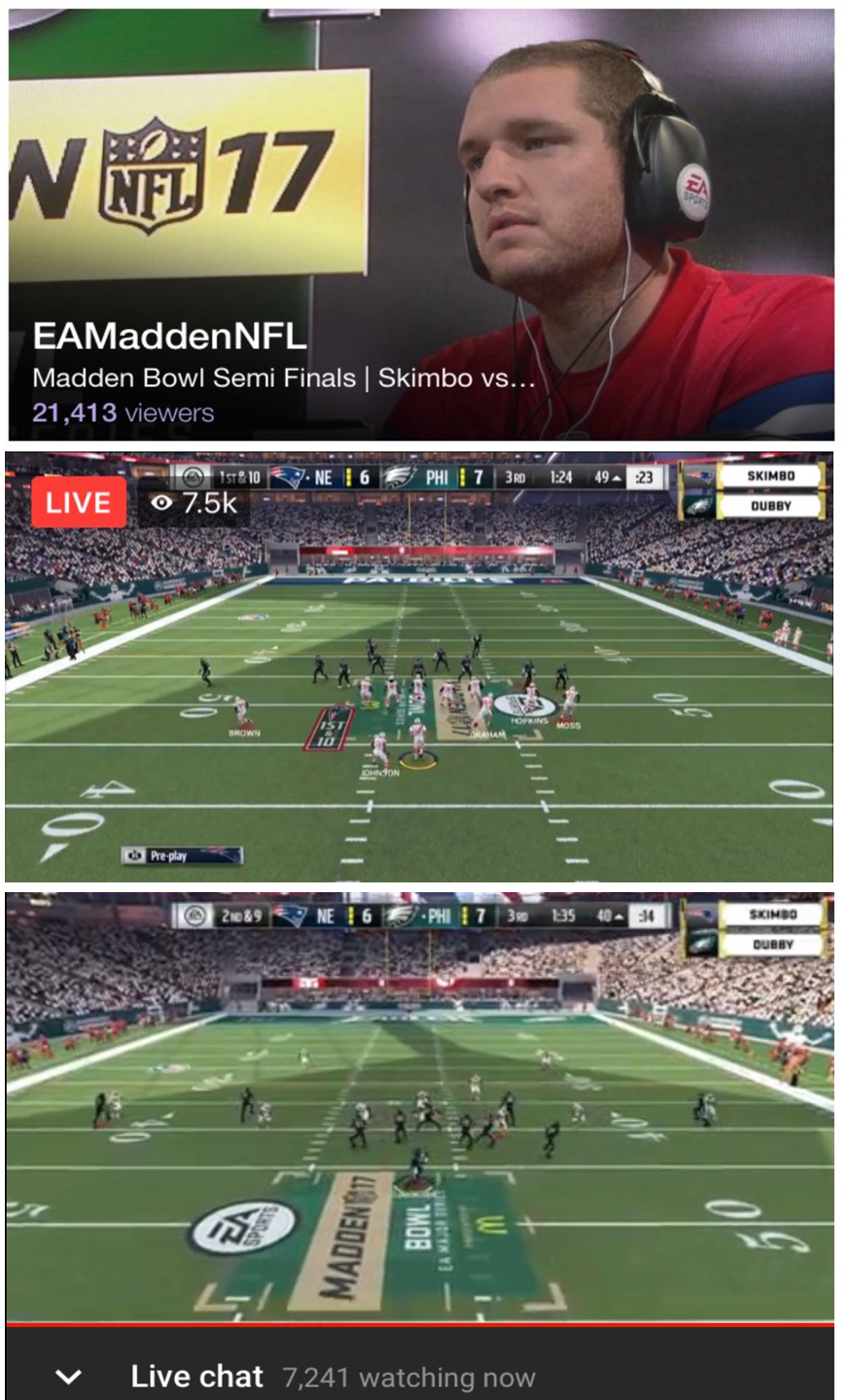 Madden Bowl Streaming Viewership - Twitch, Facebook, YouTube Gaming (Photo: Manny Anekal Twitter)